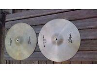 "Avides Zildjian 14"" New Beat Hi Hatt Cymbals"