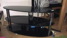 TV base stand in black excellent condition