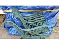 Cast Iron Chair/Bench ends