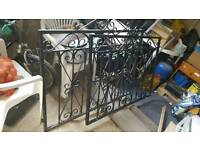 Driveways gate metal