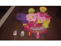 Toot toot pink garage, train station, airport and emergency vehicles