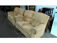 2 X 2 seater sofas (mustard yellow)
