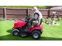 ride on mower with driver