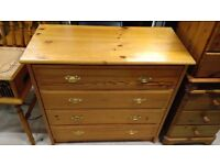 pine chest of draws solid