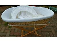John Lewis moses basket with cover, hood and stand
