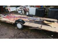 Caravan chassis single axle