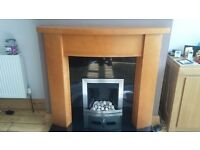 Gas coal effect fire,modern stainless steel