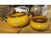 Boston Tea Party Vintage Tea Pot & Sugar Bowl