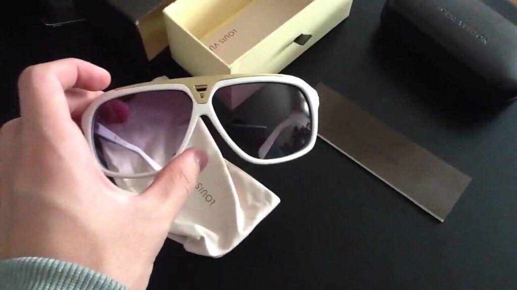 ea0578995e LOUIS VUITTON Evidence Sunglasses White LV
