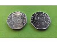 50p Fifty Pence Tom Kitten Beatrix Potter Collection Coins x 2