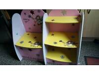"""RARE! """"Fairy girl"""" girls book shelf unit,may deliver"""