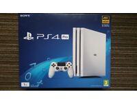 Brand new boxed PS4 Pro 1TB white console