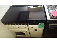 Rangemaster Classic Deluxe Free Standing 90cm 5 Hob Ceramic Range Cooker - Cream