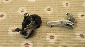 Shimano 105 front and rear deraillers 10 speed
