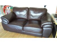 Unused Leather Sofa - Mint conditions -CLEANED
