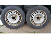 195 65 16 C 2 x tyres + Spare Steel Wheels - VAUXHALL VIVARO / RENAULT TRAFIC