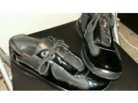 MENS-BOYS SIZE 8 PRADA TRAINERS DESIGNER BRAND LIKE NEW BARGAIN!! ORIGINAL NOT GUCCI LV AJ NIKE