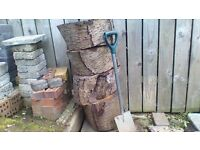 4 TREE SECTIONS £8 EACH ,GREAT FOR GARDEN DECORATION, PLACING PLANT POTS ON ETC