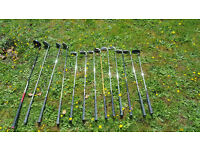 Golf Club Set inc Wilson Ultra Mid Size System 45 Irons and varying other clubs