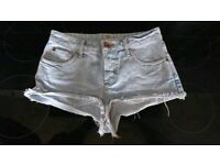 River island Jean shorts hotpants size 8