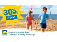 Haven Hopton Caravan Hire   First Week of Summer Holidays   Only £700!