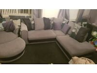 Scs corner sofa, large cuddle chair and puffy