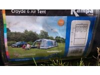 Inflatable 6 man tent, no poles.