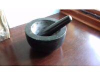 Pestle & Mortar in black stone