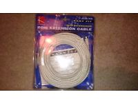 NEW 20m 6-pin mini-DIN extension cable for keyboard/mouse/CCTV camera