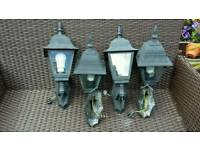 Victorian style aluminium wall lights excellent condition