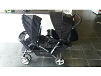 GRACO DOUBLE PRAM IN EXCELLENT CONDITION