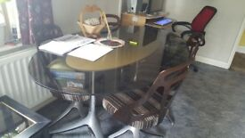 Large Glass Table & 6 Chairs