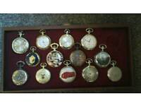 13 quartz pocket watches all in good working order