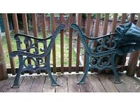 Vintage Iron Bench Ends