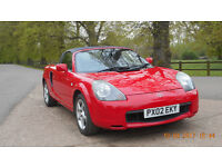 Toyota MR2 in Red Convertible - Ready for summer!