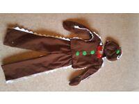 Gingerbread Man Costume Age 3-4