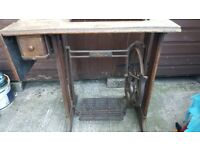 Vintage Singer Sewing Machine Table Only