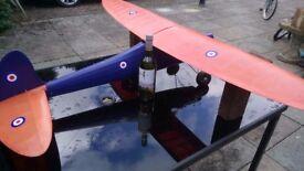 Model Plane Balsa wood needs engine. 5 foot wingspan dismantles spare wheels