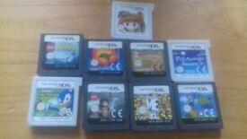 9 3ds/ds games bundle cartridges only