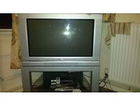 Selling TV + TV stand + NOW TV box (all in good condition)