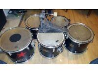 Tom drums and kick pedal, Pearl, Tama, Mapex, Diablo