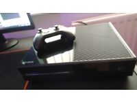 XBOX ONE with cables, controller and games