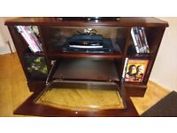 Mahogany effect TV unit