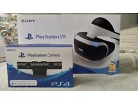 Sony PS4 Playstation VR Virtual Reality Headset & PS4 Camera V2 Boundle
