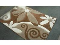 Rug - brown and cream - used