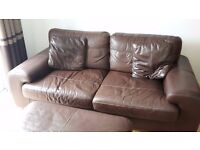 2 Seater sofa with poufe