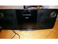Philips Cd radio with ipod dock and remote