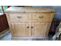 Victorian Antique Pine Sideboard