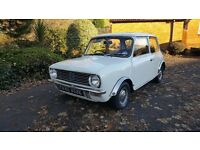 1972 AUSTIN MINI CLUBMAN British Leyland 36k, rare tax exempt, investment, Full service, Full MOT px
