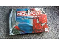 Spiderman monopoly game all complete! Box a bit tatty
